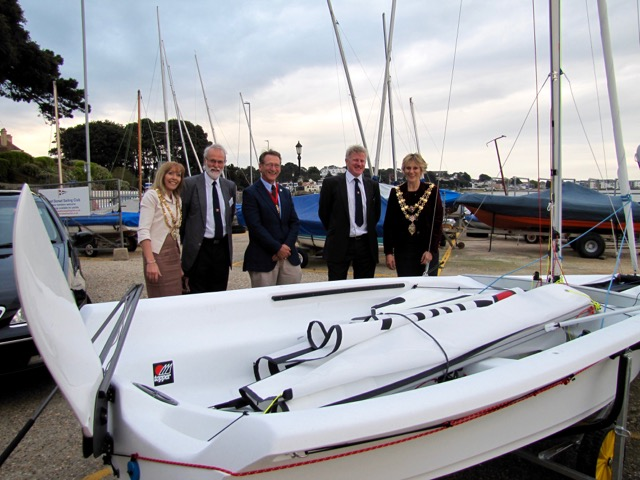 Mayor of Poole visiting EDSC new Topper Argos
